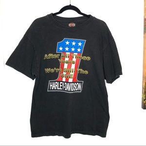 Harley Davidson •Vintage mens T Shirt L black